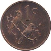 1 Cent (Balthazar J. Vorster) – reverse