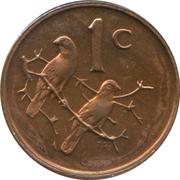 1 Cent (Jacobus Johannes Fouché) – reverse