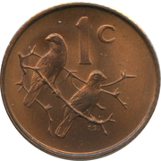 1 Cent (Charles Swart; English Legend - SOUTH AFRICA) – reverse