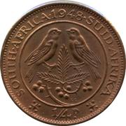 ¼ Penny - George VI (SOUTH AFRICA - SUID AFRIKA) – reverse