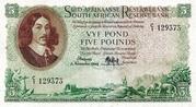 5 Pounds (Afrikaans - Englsih) – obverse
