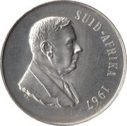 1 Rand (Dr. H.F Verwoerd; Afrikaans Legend - SUID AFRIKA) – obverse