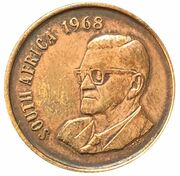 2 Cents (English Legend - SOUTH AFRICA) -  obverse