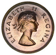 2½ Shillings - Elizabeth II (1st portrait) – obverse