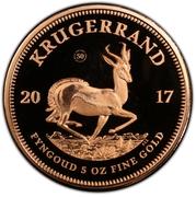 5 Ounce Krugerrand – reverse
