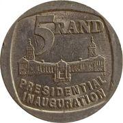 5 Rand (Presidential inauguration) – reverse