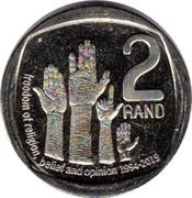 2 Rand (Freedom of Religion, Belief and Opinion) – reverse