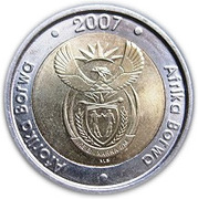 5 Rand (Aforika Borwa - Afrika Borwa) – obverse