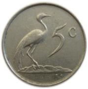 5 Cents (Charles Swart; Afrikaans Legend - SUID-AFRIKA) -  reverse