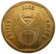 50 Cents (Cricket; Sepedi/Sesotho Legend - Afrika Borwa) – obverse