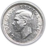 6 Pence - George VI (SOUTH AFRICA - SUID AFRIKA) -  obverse