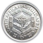 6 Pence - George VI (SOUTH AFRICA - SUID AFRIKA) -  reverse