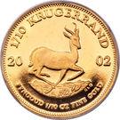 1/10 Ounce Krugerrand – reverse