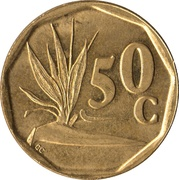 50 Cents (SUID-AFRIKA - SOUTH AFRICA) -  reverse