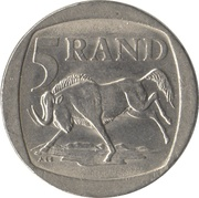 5 Rand (SOUTH AFRICA - SUID-AFRIKA) -  reverse
