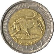 5 Rand (Afrika Dzonga - South Africa) – reverse