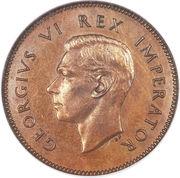 ¼ Penny - George VI – obverse