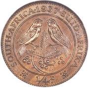 ¼ Penny - George VI – reverse