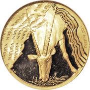 1 Ounce (Natura - Gemsbok, Prince of the Kalahari) – reverse
