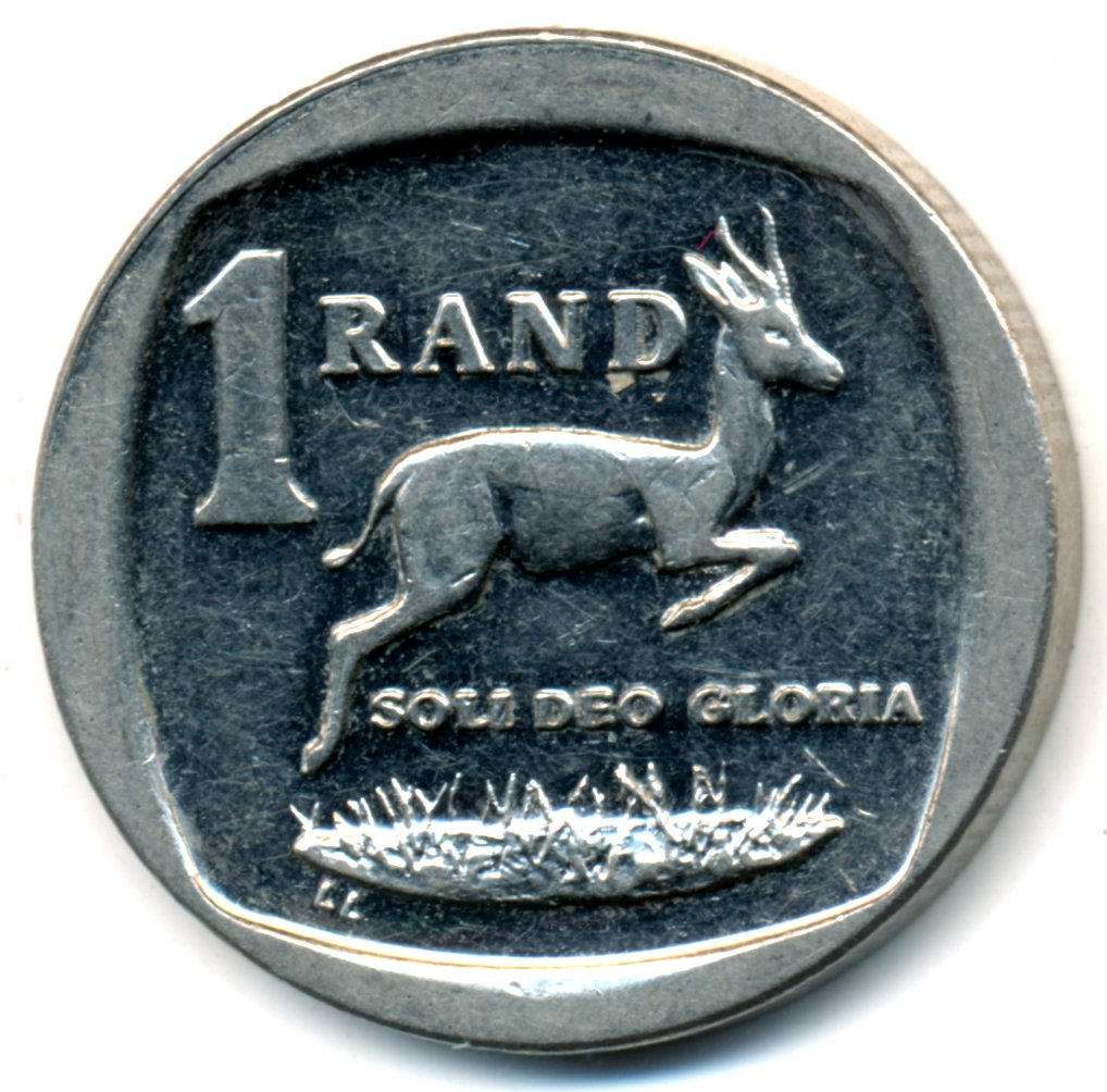 Springbok and value South Africa 2007-1 Rand Nickel Plated Copper Coin