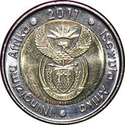 5 Rand (iNingizimu Afrika - iSewula Afrika) – obverse