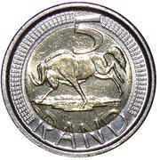 5 Rand (iNingizimu Afrika - iSewula Afrika) – reverse