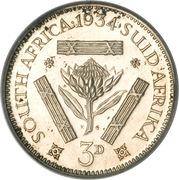 3 Pence - George V (SUID-AFRIKA 3D) – reverse