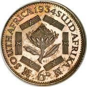 6 Pence - George V (SUID-AFRIKA 6D) – reverse