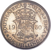 2½ Shillings - George V (2½ Shillings, ZUID-AFRIKA) – reverse