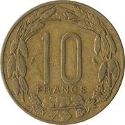 10 Francs CFA -  reverse