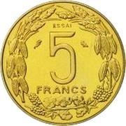 5 Francs CFA (Essai) – reverse