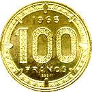 100 Francs CFA (Piedfort Essai) – reverse