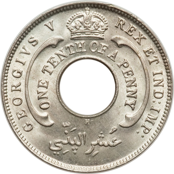 UNC BRITISH WEST AFRICA GEORGE V 1931 1//10 PENNY