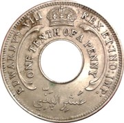 1/10 Penny - Edward VIII – obverse