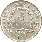 3 Pence - George V – reverse