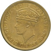 2 Shillings - George VI (Trial Strike) – obverse