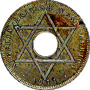 ½ Penny - George V – reverse