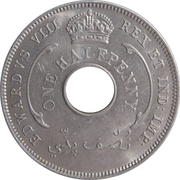 ½ Penny - Edward VIII – obverse