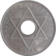 ½ Penny - Edward VIII – reverse