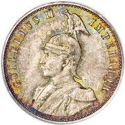 ½ Rupie - Wilhelm II – obverse