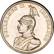 2 Rupien - Wilhelm II – obverse