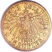 15 Rupien - Wilhelm II (Tabora Emergency Coinage) – obverse