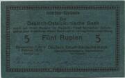 5 Rupien – obverse