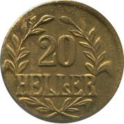 20 Heller - Wilhelm II (Tabora Emergency Coinage) – reverse