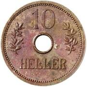 10 Heller - Wilhelm II (Pattern) – reverse