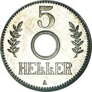 5 Heller - Wilhelm II – reverse