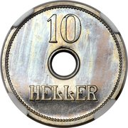 10 Heller - Wilhelm II (Trial Strike) -  reverse