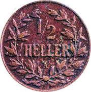 ½ Heller - Wilhelm II – reverse
