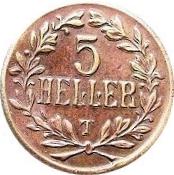5 Heller - Wilhelm II (Tabora Emergency Coinage) – reverse