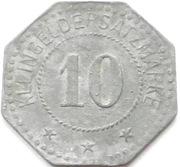 10 Pfennig - Agatharied – reverse
